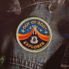 """Out of Body Explorer Patch - Metaphysical Fashion Accessory - 2"""" Iron On Embroidered Patch - Lucid Dreaming Astral Projection"""