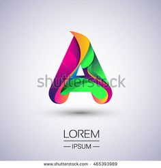 A letter colorful logo, Vector design template elements for your application or company identity.