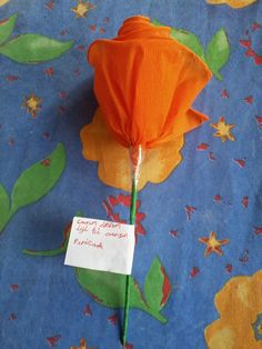 Paper Rose for mother's day (made by students)