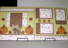 Fall Scrapbook Layout using Cricut Create a Critter