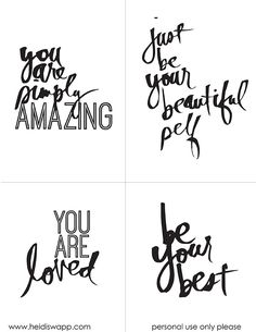 Inspirational Hand Lettered Quotes | Free Printable