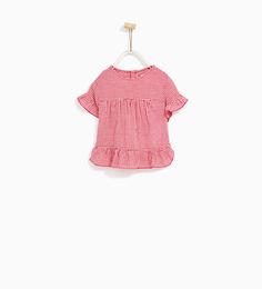ZARA - KIDS - GINGHAM FRILLED SHIRT