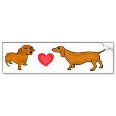 Cute Dachshunds Bumper Stickers, Cute Dachshunds Bumper Sticker ...