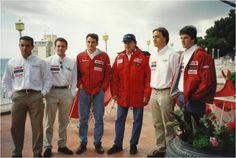 Carlos Sainz and Toyota Racing Team members. Racing Team, Team Member, Toyota, To My Daughter, Rain Jacket, Windbreaker, Coat, Jackets, Life
