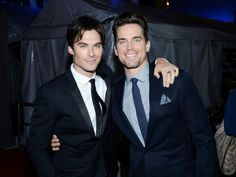 Ian Somerhalder and Matt Bomer, two candidates to play Christian Grey