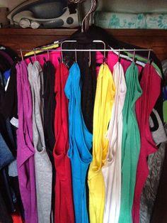 How to organize an RV closet. Lots of great tips on RV organization! http://liferidingshotgun.blogspot.com/p/decorating.html