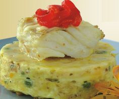 'Pudim de bacalhau' - cod pudding. Original and appetizing!