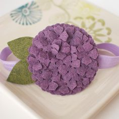 Purple Felt Hydrangea Headband by MyLittlePixies on Etsy, $9.00