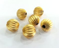 5 Pcs Gold Plated Brass Beads by AZsupplies on Etsy Gold Beads, Plating, Place Card Holders, Stud Earrings, Brass, Trending Outfits, Unique Jewelry, Handmade Gifts, Vintage