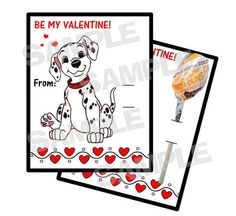 101 Dalmations Dog personalized Valentine Cards by myhtmdesigns, $8.99