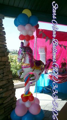 carousel sculpture perfect for a carnival themed birthday