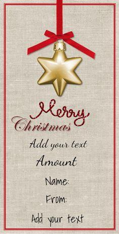 Free Christmas Gift Certificate Customizable Christmas Gift - Diy christmas gift certificate template