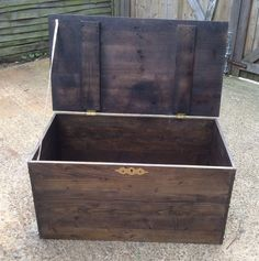Unique Bespoke Coffee Table/Shoe Storage/Blanket Chest Vintage Style, Reclaimed