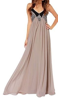 LOVARU Women's Fashion Summer Khaki Sequins Chiffon Maxi Dress  http://www.yearofstyle.com/lovaru-womens-fashion-summer-khaki-sequins-chiffon-maxi-dress/