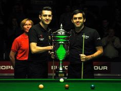Two of my absolute favourite snooker players - Mark Selby and Ronnie O'Sullivan!