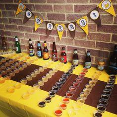 Beer tasting birthday  #adultbirthdays #birthdayideas