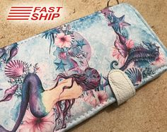 Mermaid iPhone 7 Plus case iPhone 6 Plus case wallet case READY to SHIP by superpowerscases. Explore more products on http://superpowerscases.etsy.com