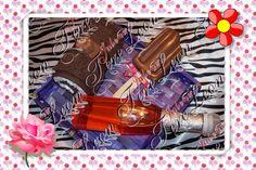 Kit de Paleta de jabon de Chocolate, Gel de burbujas de shampagne, Toalla facial de cup cake