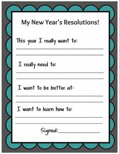 Source by Related posts: Free Printable: Family New Year Resolutions Printable New Year's Resolution Cards The Secret to Keeping New Year's Resolutions [With Free Printable] New Years Resolution : Happy New Year Resolutions Family New Years Eve, New Years Eve Party, New Years Activities, Activities For Kids, Sabbath Activities, Literacy Activities, Therapy Activities, Daily 5, New Year Goals