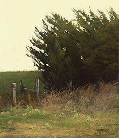 The Windbreak, 7 x 6 inches, oil on panel  Marc Bohne