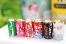 6 teile/los Puppenhaus Küche Lebensmittel Spielzeug 1:6 Mini Koks Getränke re-ment Größe Miniatur Puppenhaus Zubehör Weihnachtsgeschenk(China (Mainland))