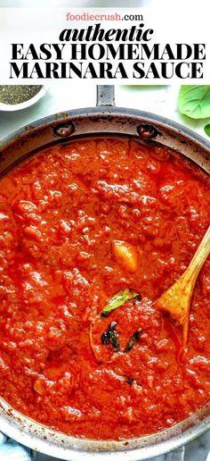 Homemade Sauce, Homemade Pasta, Easy Tomato Sauce, Tomatoe Sauce, Italian Tomato Sauce, Tomato Sauce Recipe, Sauce Marinara, Marinara Recipe, Pasta Sauce Recipes
