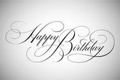 Birthday Quotes : Happy Birthday Lettering by vatesdesign on Creative Market Happy Birthday Font, Happy Birthday Calligraphy, Birthday Letters, Birthday Cards, Birthday Greetings, Sister Birthday, Birthday Images, Birthday Wishes, Birthday Ideas
