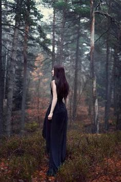 Photographic Print: Young Woman Wearing Black Dress in Woods by Josefine Jonsson : Woods Photography, Photography Lessons, Autumn Photography, Digital Photography, Portrait Photography, Photography Tutorials, Inspiring Photography, Flash Photography, Photography Gallery