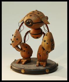 Robot scale model by Alix Laine. Pinned by #relicmodels