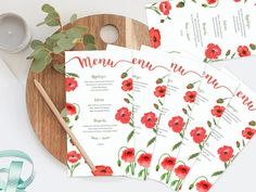 Watercolor Wedding Menu Printable Wedding Menu Floral Wedding Menu, Floral Wedding, Wedding Ideas, Printable Menu, Printables, Watercolor Wedding, Watercolor Flowers, Love Design, Design Ideas