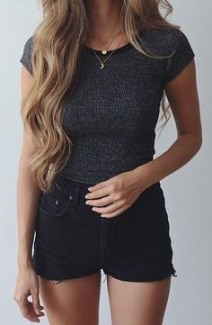 45 Brilliant Summer Outfits To Copy Right Now 11 45 brillante Sommeroutfits zum Nachmachen 11 Simple Outfits For Teens, Casual Summer Outfits, Short Outfits, Spring Outfits, Summer Dresses, Summer Clothes, Teen Fashion, Fashion Outfits, Womens Fashion