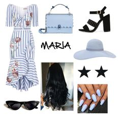 """""""Untitled #95"""" by mariadia2013 ❤ liked on Polyvore featuring Temperley London, Fendi and Eugenia Kim"""