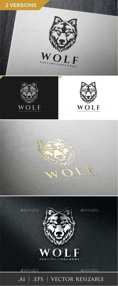 Wolf Logo Template #design #logotype Download: http://graphicriver.net/item/wolf-logo-template/13834346?ref=ksioks
