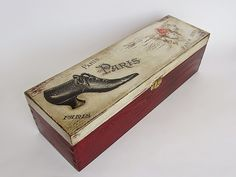 Used to be a wine box, now for shoe utensils