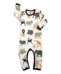 Look what I found on #zulily! Safari Romper - Infant #zulilyfinds