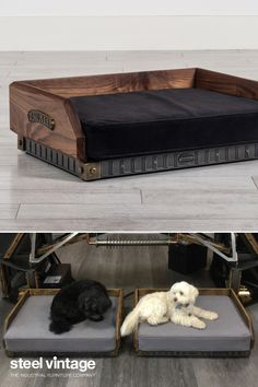 The ultimate in luxury pet beds. The solid timber frame wraps neatly around the handmade cushion which sits firmly upon the steel base. Featuring high-quality elements from the Brunel range including brass corner bumpers and solid cast brass badges. The hand upholstered cushion has a removable cover for cleaning.