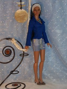 *Bluedigo* Ooak Ensemble for American Model and Youth Dollmore Eve