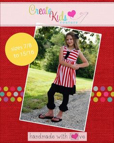 These adorable ruffle leggings have a fun and simple design that will be a perfect addition to any season and outfit! Make them super full with all the ruffles or use less ruffles for a simpler design. They look sweet with all of our top patterns, or even paired with a store bought shirt! Pair it under a summer dress for a little added warmth! For use only with knit fabrics. Also includes a pattern for capris length!