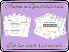 Angles in Quadrilaterals lesson with all resources. Students will learn how to find angles in special quadrilaterals, use problem solving to find missing angles in quadrilaterals and use algebra to find angles Rounding Activities, Problem Solving Activities, Learning Activities, Assessment For Learning, Teaching Math, Tes Resources, Teaching Resources, Gcse Math