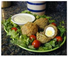 Baked Scotch Eggs with Sausage in Dijon Sauce: Scotch Eggs