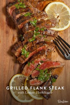 Grilling steaks for dinner is a no-brainer. For big, bold flavor, we marinate our steak before it goes onto the grill, then serve it with a fresh herb sauce for an extra boost. Put your grill to use this summer with this easy, delicious recipe.