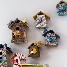 cloth bird houses