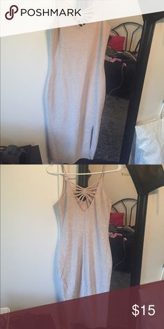Hoco Dress Cream and sparkly dress that is tight fitting/bodycon Charlotte Russe Dresses Midi
