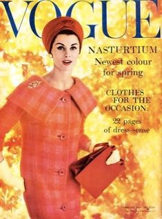 Vogue ~ 1959 - love the color!!  Want this jacket today!!