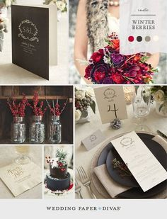 winter wedding colors | Winter wedding colors