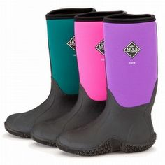 Muck Boots Women's Hale Multi Season Boot - Black/Jade | Knee ...
