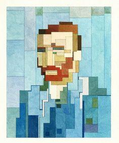 8-Bit Painting – 17 nouvelles peintures à l'aquarelle par Adam Lister