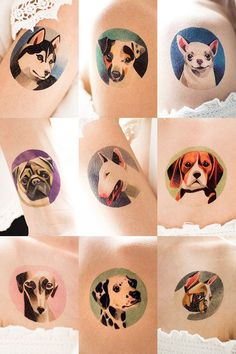 Sasha Unisex temporary tattoo dog collection