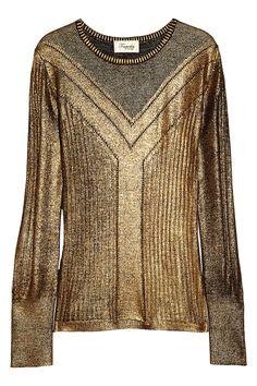 Temperley London|Judith metallic merino wool sweater