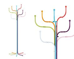 Tube-Inspired Coat Racks #hanger #décor  WANT!!!